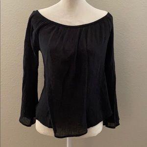 Black off the shoulder long sleeve